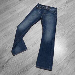 Men's BLEND Jeans W32 L34 Slim Boot Cut zip fly 100% cotton blue denim casual
