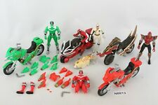 Power Rangers Time Force, Wild Force, Ninja Storm Rangers w/ Bikes Cycle Parts