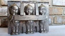 ANTIQUE METAL CHOCOLATE CANDY MOLD KEWPIE BABY DOLL OLD TINNED #1980 Germany