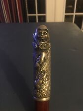 The Padrone Collection: Cat and Mouse Pewter Walking Stick