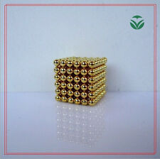 Gold 216 Pcs 3mm Sphere Ball Neodymium Rare Earth Super Magnets N35 New