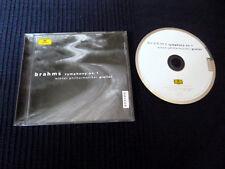 CD BRAHMS Carlo Maria Giulini Symphonie No. 1 DG DGG Wiener Philharmoniker