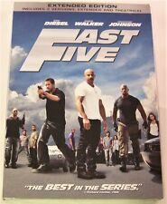 Fast Five (DVD, Extended Edition) SHIPS NEXT DAY Vin Diesel, Paul Walker, Rock