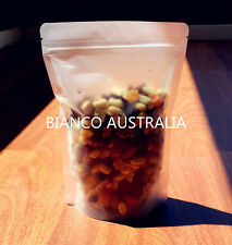 100x 150G(400ML) PLASTIC STAND UP POUCH BAG, FROSTED, WITH ZIP LOCK
