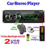 2 USB Autoradio MP3 Bluetooth Freisprechen Aoto Spieler Car Player ISO-Stecker