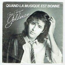 """Jean Jacques GOLDMAN 45T 7"""" QUAND LA MUSIQUE EST BONNE - VEILLER TARD -EPIC 2782"""