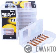 180 x Duracell Activair Hörgerätebatterien Größe 312 Hearing AID 6134 30 Blister