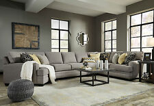 MERIDA 4pc Modern Sectional Living Room Couch Set - NEW Gray Fabric Sofa Cuddler