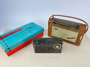 3x alte Miniradios Philips Nicolette Transistor 6 TR-602 Vintage Transistorradio