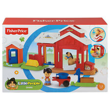NEW FISHER PRICE 'LITTLE PEOPLE' HORSE STABLE PLAYSET WITH KOBY AGES 1-5 RRP$35