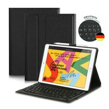 Neues AngebotQWERTZ für iPad 10.2 7th 2019 DEUTSCHE Bluetooth Keyboard Tastatur + Schutzhülle