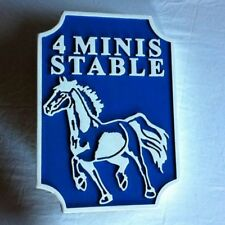 Horse Fresian 3D routed carved wood sign stable plaque stall Custom