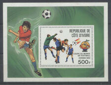 FOOTBALL Cote d'Ivoire 1 bloc de 1981