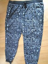 BOBBIE BROOKS LADIES SIZE 2X SOFT  STRETCH KNIT  PANTS BLACK / GRAY NWT