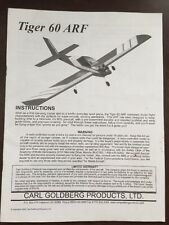 Tiger 60 ARF RC Airplane Instruction Manual Only