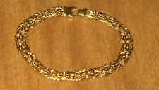 "Benzatine Bracelet 14k yellow gold 7.25"" Long  7.2 grams Marked RCI 14K"