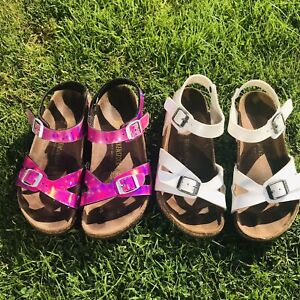Birkenstock Rio Sandals 2 Pairs Size UK 1 and 2