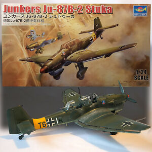 TRUMPETER 1/24 JUNKERS JU 87B-2 STUKA MODEL KIT 02421