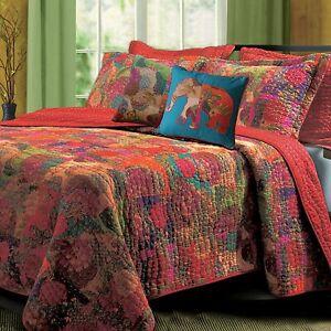 Luxury Designer Jewell Quilt Set, King/California King, Spice 5 pc Set