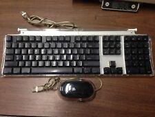 iMac Black Pro keyboard M7803 with Pro Mouse M5769 --Tested -G3, G4, Imac, eMac