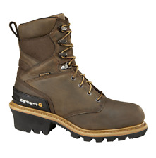 8c06616a6618 Mens Carhartt Soft Toe Waterproof Insulated Logger Boot Brown Cml8169 12  Medium (d M)