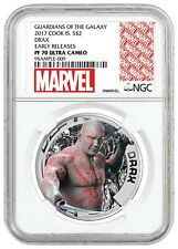 2017 Cook Islands Marvel Guardians of Galaxy DRAX .999 Silver coin NGC PR70