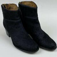 Del Toro Women's Leather Cowhide? Ankle Boots Size 7 Black Made In Italy