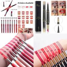 2 In 1 Waterproof Matte Liquid Lipstick Lip Liner Pen Pencil Long Lasting Makeup