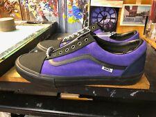 Vans Old Skool Pro Suede Purple Black Check Laces Size US 13 Men New Custom Made