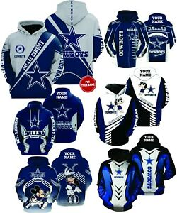 Customized / Personalized - Dallas Cowboys NFL Football - All over Print Hoodies
