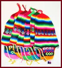 FASCHING Kindermütze Bommel Ohrenwärmer warm Hirtenmütze Ethno Peru Gr.40-50 KU