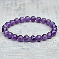 GENUINE Amethyst Bracelet High Quality Crystal For Reiki Crown Chakra Healing