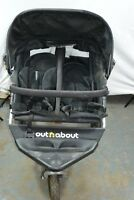 Out n About Nipper 360 Double V2 Black Pushchairs Double Seat Stroller