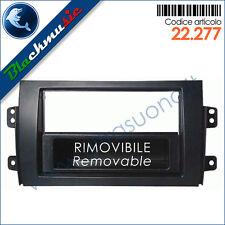 Mascherina supporto autoradio ISO-2DIN Fiat Sedici (dal 2005) con portaoggetti