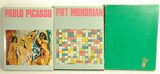 """Picasso e Mondrian cofanetto 2 libri """"I Maestri del 900"""" Sadea Sansoni 1969 -ZF"""