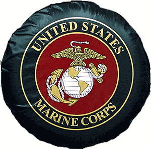 "28"" Marine Corps Marines USMC Vinyl Spare Tire Cover (Awesome!!!)"