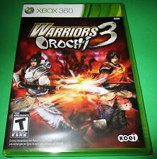 Warriors Orochi 3 Xbox 360 Factory Sealed!! Free Shipping!!