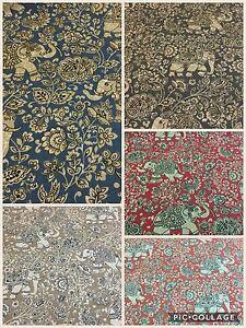 SMD iLiv INDIRA (Elephants) Cotton Fabric,Upholstery/Curtains/Cushions/Crafts