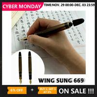 2019 Wing Sung 699 Vaccum Filling Fountain Pen Fine Nib Or Fuliwen M Replacement