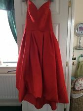 Red Satin Evening Ball Gown, Prom or Cocktail Dress
