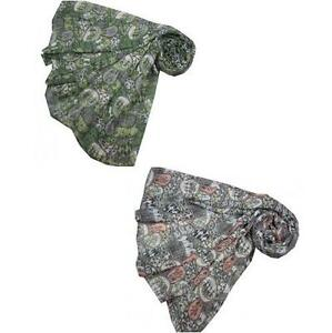 NEW Tree Circles Deco Retro Look Grey or Ivy Moss Green Oversized Scarf Shawl