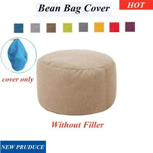 New Bean Bag Cover Ottoman Footstool Round Stool Chair Cover Without
