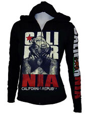 Cute Masked Marilyn Monroe Gangster Zip Up Sweater Hoodie,California Rep Arms M