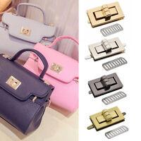 Metal Rectangle Shape Clasp Turn Lock Twist Lock DIY Handbag Bag Purse Hardware