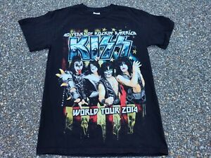 KISS T-shirt Concert Tour 2014 With Cities Size Small