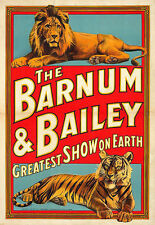 Art Barnum and Bailey  Greatest Show on Earth Circus Deco Colourful Poster Print