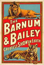 Art Barnum et Bailey Greatest Show on Earth Circus Deco Colorés Poster Print