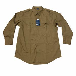Propper - Men's Long Sleeve Tactical Shirt - 2XL Long - Coyote - Soil/Stain Resi