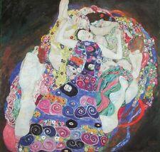 Gustav Klimt Poster Kunstdruck Bild Die Jungfrau 64x68 cm Kostenloser Versand