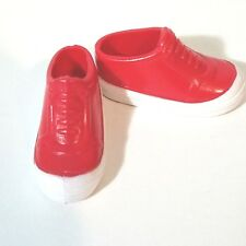 1999 Mary Kate and Ashley Olsen Twins Doll Shoes Red White Slip On Sneakers